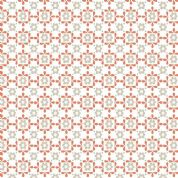 Lewis & Irene Sam & Mitzi - 4234 - Daisy, Stone and Orange Retro Floral - A106.2 - Cotton Fabric